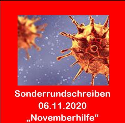 Corona - Sonderrundschreiben 06.11.2020 - Novemberhilfe