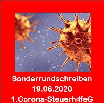 Corona - Sonderrundschreiben 19.06.2020 - Erstes Corona-Steuerhilfegesetz