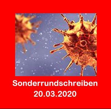 Corona - Unser Sonderrundschreiben vom 20.03.2020