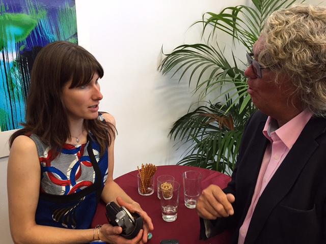 Künstler im Gespräch - Christina Haas mit Stadtrat und Autor Uwe Dolata