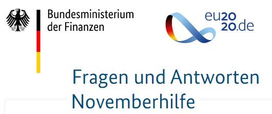 FAQ zur Novemberhilfe - Stand 06.11.2020