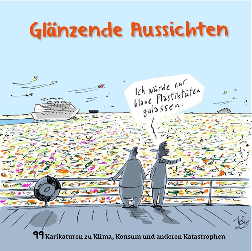 Kunst trifft Steuer - Glänzende Aussichten - Karikaturen