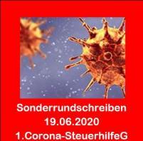 Corona - Aktuelle Informationen 19.06.2020 - Erstes Corona-Steuerhilfegesetz